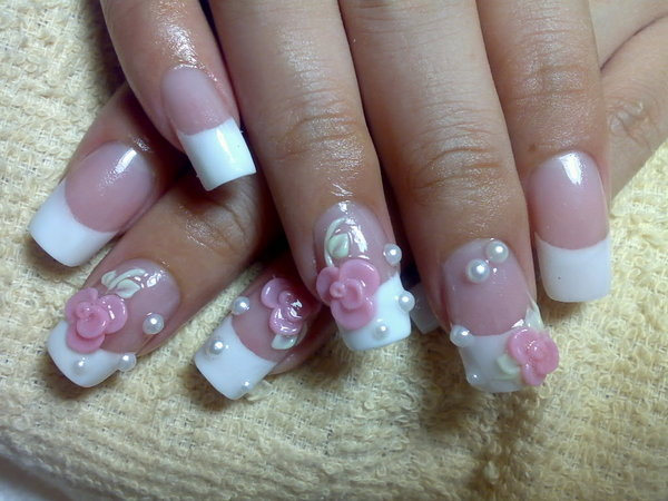 flower designs for nails. Often clients have these nails